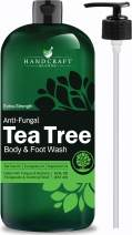 Handcraft Antifungal Tea Tree Oil Body Wash and Foot Wash – Huge 16 OZ – Extra Strength Professional Grade – Helps Soothe Athlete Foot, Body Itch, Jock Itch and Eczema - Packaging May Vary