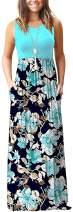 MOLERANI Women's Loose Plain Maxi Dresses Casual Long Dresses with Pockets