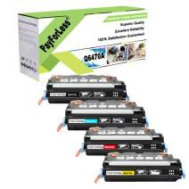 PayForLess Toner Cartridge 501A 502A 503A 504A (Q6470A Q6471A Q6472A Q6473A) Compatible 4PK for HP Color Laserjet 3600n 3800n 3800dn CP3505 CP3505n CP3505dn
