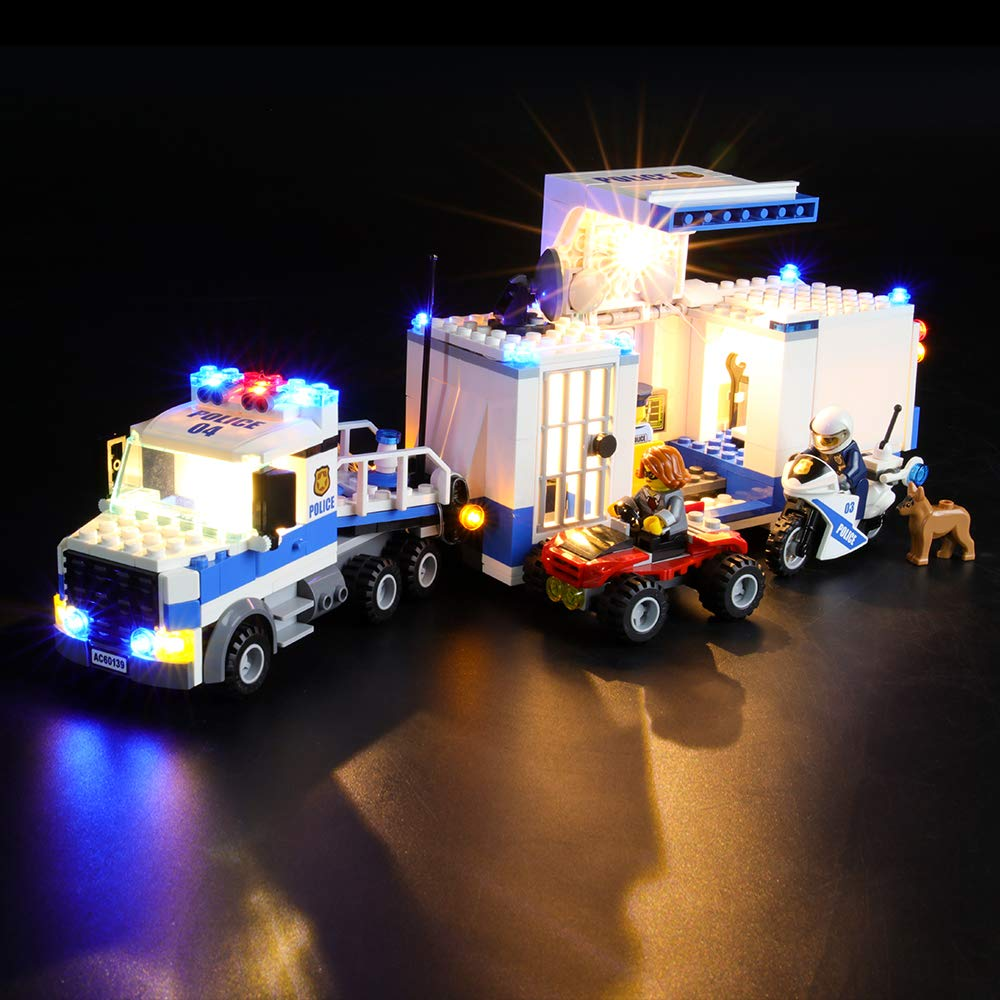 LIGHTAILING Light Set for (City Police Mobile Command Center) Building Blocks Model - Led Light kit Compatible with Lego 60139(NOT Included The Model)