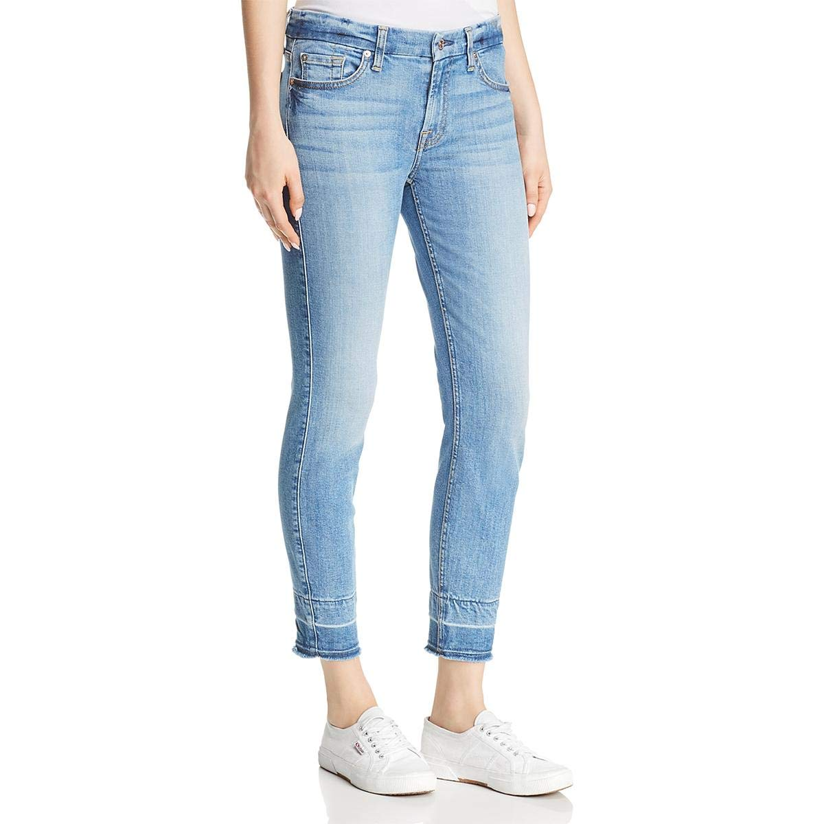 7 For All Mankind Women's Ankle Skinny Mid Rise Jeans