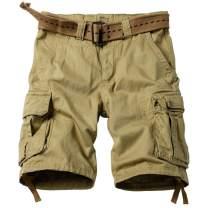 AKARMY Men's Casual Multi Pocket Outdoor Camouflage Shorts Twill Camo Cargo Shorts