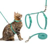SCIROKKO Cat Harness and Leash Set - Escape Proof Adjustable for Outdoor Walking with Safety Buckle