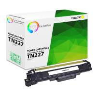 TCT Premium Compatible Toner Cartridge Replacement with Chip for Brother TN227 TN-227 TN227Y Yellow Works with Brother HL-L3210CW, MFC-L3710CW L3750CDW, DCP-L3510CDW Printers (2,300 Pages)