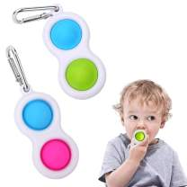 2 Pcs Simple Fidget Dimple Toy Silicone Flipping Board Toy,Stress Relief Sensory Hand Toy,Sensory Toy Toddler Early Educational Toy,Brain Development Toy,Mini Fidget Toy for Kids Adults