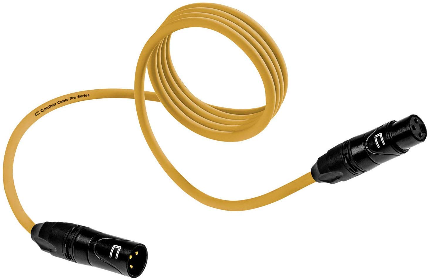 Balanced XLR Cable Male to Female - 75 Feet Yellow - Pro 3-Pin Microphone Connector for Powered Speakers, Audio Interface or Mixer for Live Performance & Recording