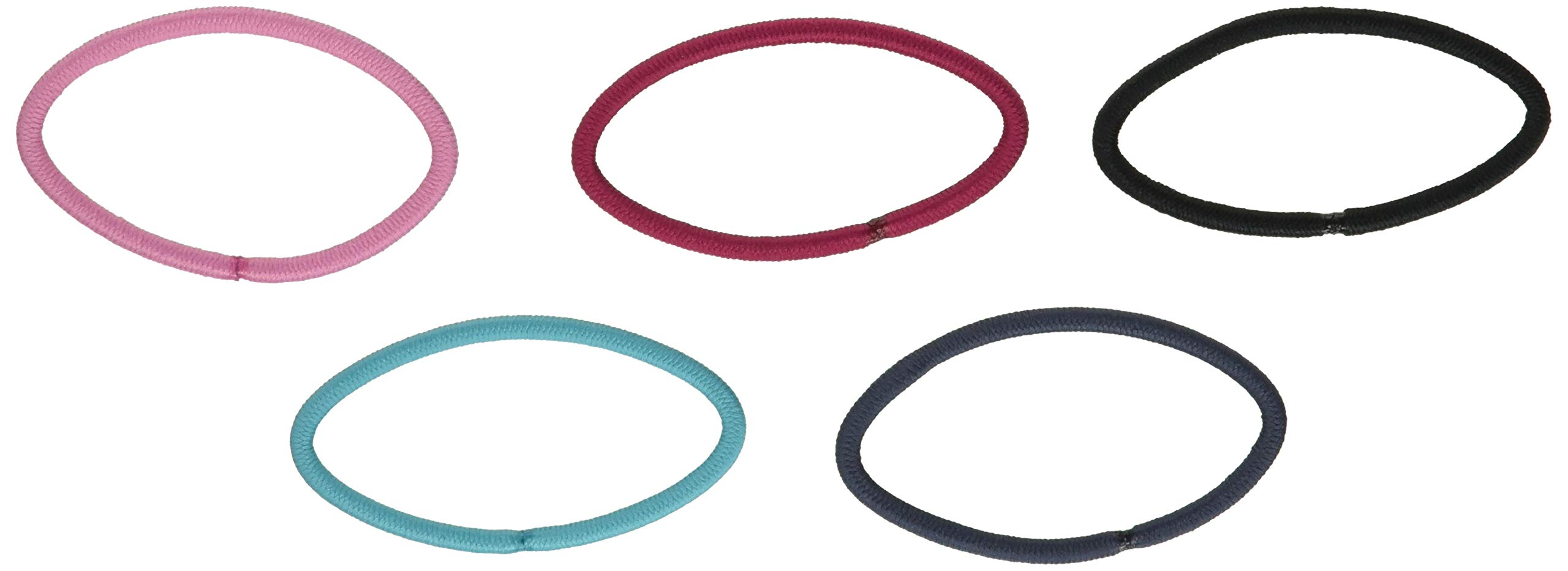Scunci Effortless Beauty Large No-damage Pastel Elastics, 30-Count (Colors May Vary)