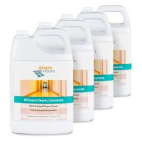 Simply Floors FLC-0035 All Purpose Floor and Multi-Surface Cleaner - [Pack of 4 - 1 gallon bottles] 12-13 pH Concentrated Cleaning Solution, Ideal for Scrub and recoat, Dilution rate from 1:20 to 1:128