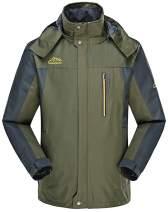 4How Mens Water Resistant Ski Jacket Hooded Outdoor Fleece Coat