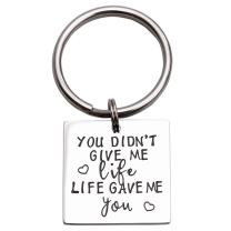 LParkin You Didn't Give Me Life Life Gave Me You Bonus Mom Gift Step Mother Keychain Step Mom Gift Step Mother of The Bride