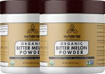 Naturevibe Botanicals Organic Bitter Melon Powder (16oz) (2 Pack of 8oz Each) - Momordica Charantia | Non GMO & Gluten Free | Herbal Supplement | Supports Immunity System [Packaging May Vary]