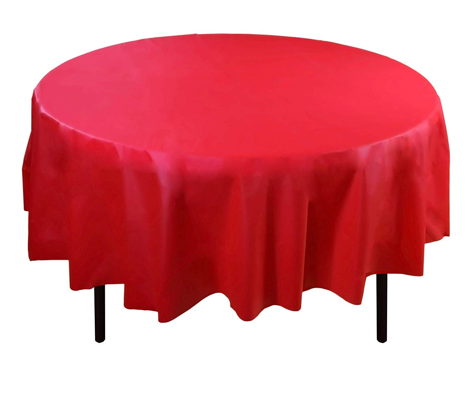 """LAMINET Premium Eco-Friendly Disposable Tablecovers - Set of 2 - RED - 84"""" Diameter"""