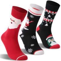 Fun Cartoon Socks, RTZAT Unisex Novelty Fashion Holiday Funny Gift Cute Cotton Mid Claf Socks, 3-6 Pairs