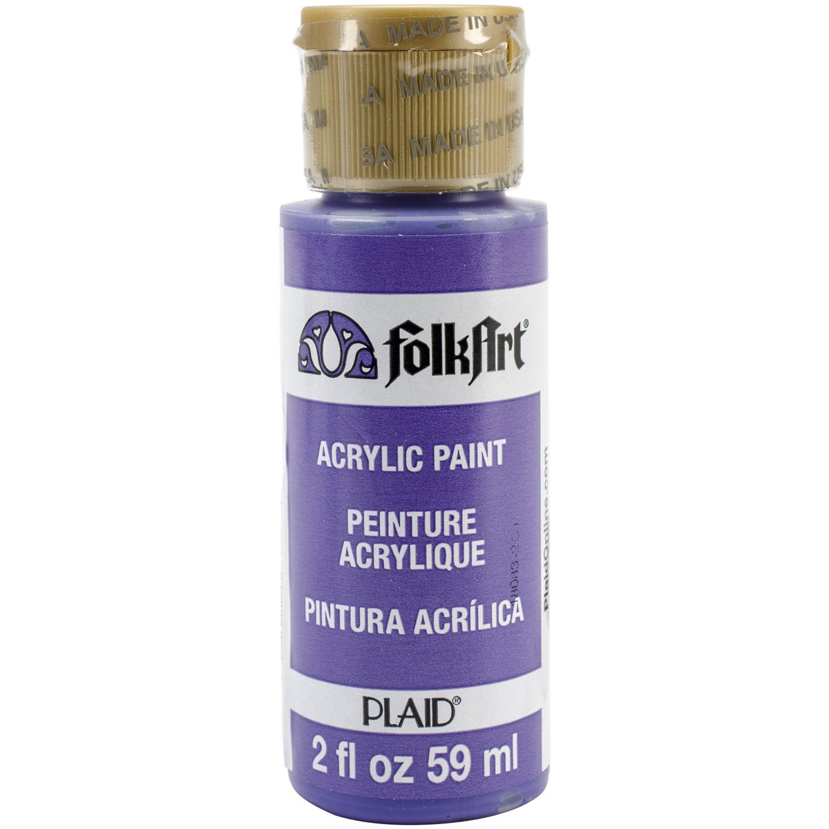 FolkArt Acrylic Paint in Assorted Colors (2 oz), 2557, Perfect Purple