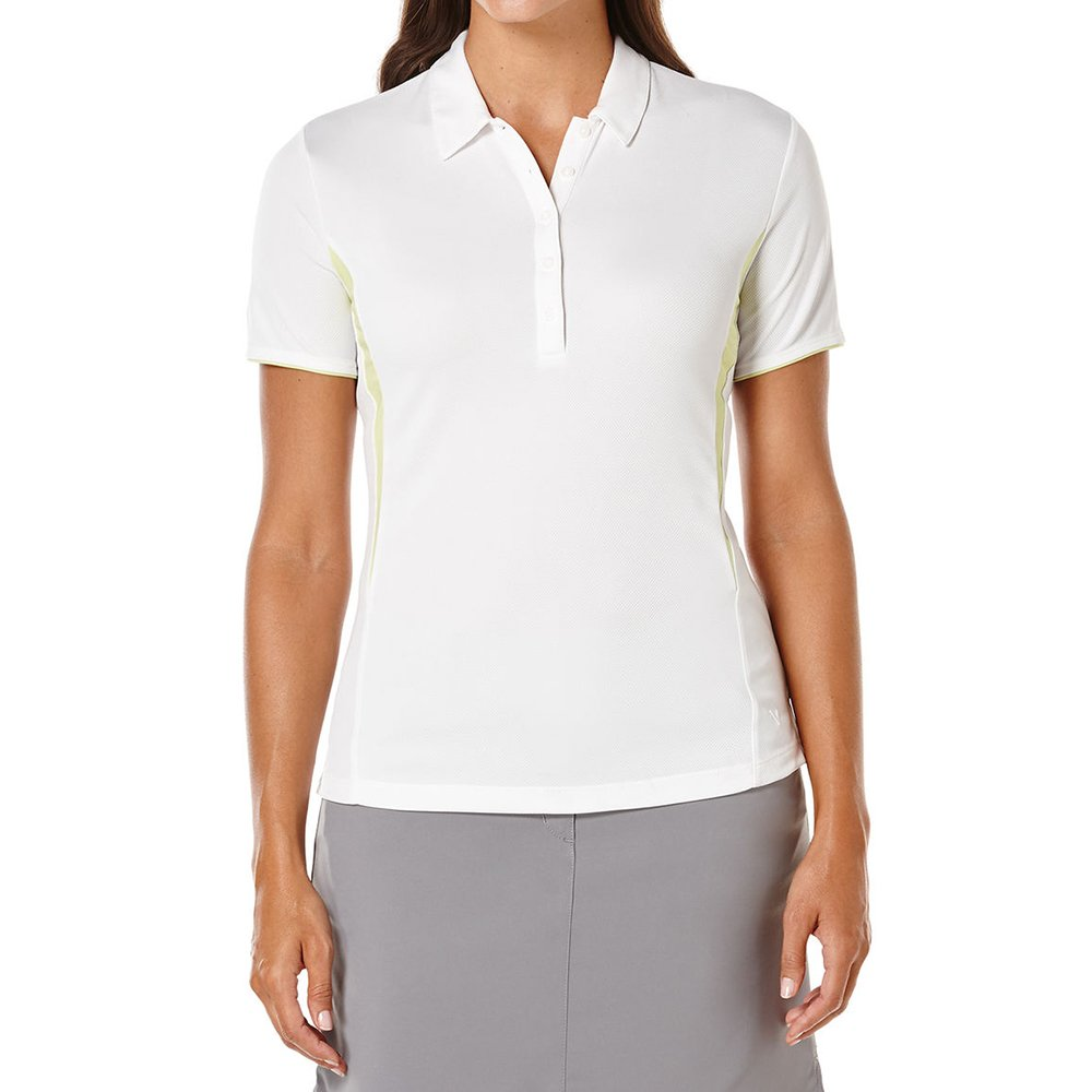 Callaway Women's Golf Performance Short Sleeve Color Blocked Polo Shirt