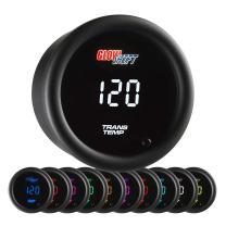 "GlowShift 10 Color Digital 300 F Transmission Temperature Gauge Kit - Includes Electronic Sensor - Multi-Color LED Display - Tinted Lens - for Car & Truck - 2-1/16"" (52mm)"