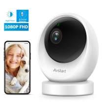 Dog Camera, 1080P FHD Pet Camera, AVSTART Wireless Camera with AI Human Detection, Night Vision, Home Security Camera 2-Way Audio, Pan/Tilt/Zoom WiFi IP Camera Works with Alexa, Cloud Storage/TF Card
