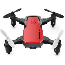 SIMREX X300C Mini Drone RC Quadcopter Foldable Altitude Hold Headless RTF 360 Degree FPV Video WiFi 720P HD Camera 6-Axis Gyro 4CH 2.4Ghz Remote Control Super Easy Fly for Training(Red)