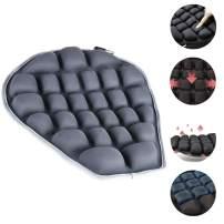 Haerniubi Motorcycle Seat Cushion, Air Fillable Seat Pad, Pressure Relief Motorcycle Cushion for Sport | Cruiser | Touring (Gray)