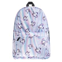 Bonamana Pink Unicorn Rainbow Bag Fantasy Backpack Rucksack Travel Bags Daypack