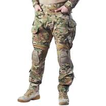 IDOGEAR G3 Combat Pants Multicam Men Pants with Knee Pads Airsoft Hunting Military Paintball Tactical Camo Trousers