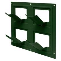 Emsco Group 2491-1 Bloomers Vertical System – Create Gardens Holds up to 4 Potted Plants – Hunter Green Wall Flowers