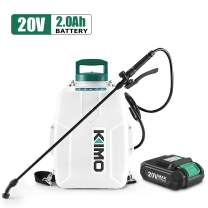 KIMO 3 Gal. 20V Li-Ion Battery Powered Backpack Sprayer w/ 2.0Ah Battery&Charger, 2 Extended Hoses, 3 Nozzles, No Manual Pumping Required Heavy Duty Sprayer for Weeding, Spraying, Cleaning, Gardening