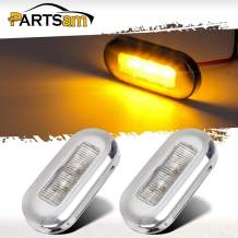 Partsam 2 Pcs 3 Inch Marine Boat RV Amber Courtesy Cabin Walkway Stair LED Lights Polished Stainless Steel accent lighting step task lighting compartment, Anywhere you need light interior and exterior