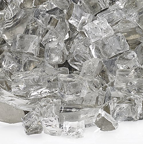 American Fireglass 10-Pound Reflective Fire Glass with Fireplace Glass and Fire Pit Glass, 1/2-Inch, Starfire