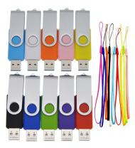 8GB USB 3.0 Flash Drive Bulk 10 Pack Thumb Drives - Foldable 8 GB USB3.0 Memory Stick Data Storage Multipack Zip Drives - Portable Jump Drive Gift Multi-Coloured Pen Drive with 10pcs Rope by FEBNISCTE