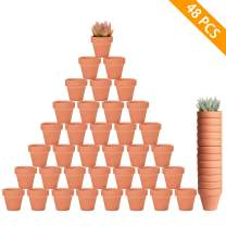 "Danmu 48Pcs a Set 2"" Terracotta Pot Nursery Pot for Cactus Succulent Herb with Drainage Hole Planters Plant Pots DIY Craft Wedding Baby Shower Party Decorations"