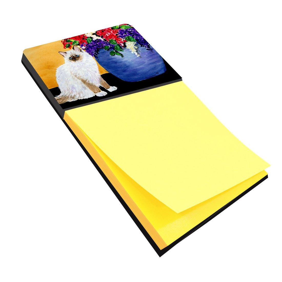 Caroline's Treasures SS8604SN Cat - Ragdoll Refiillable Sticky Note Holder or Postit Note Dispenser, Large, Multicolor