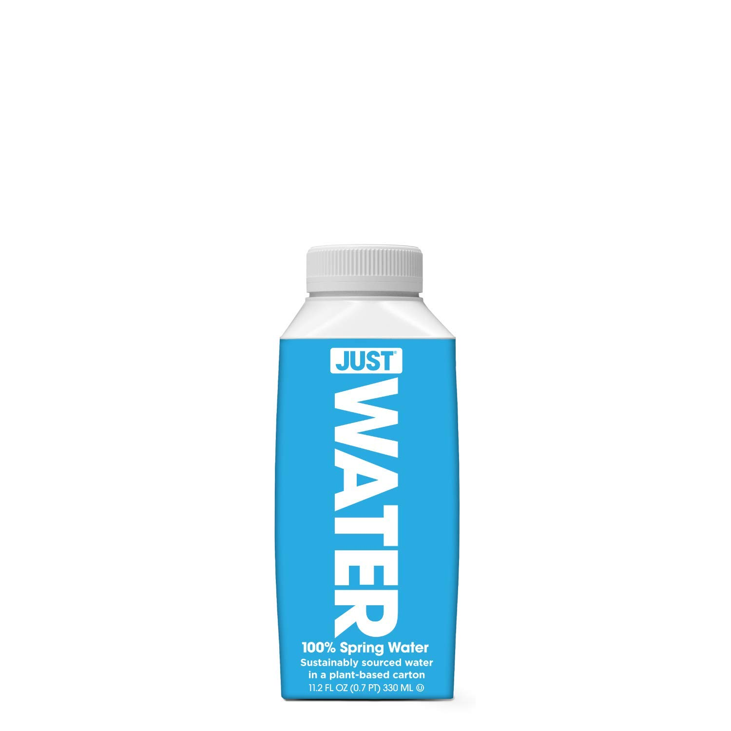 JUST Water, Premium Pure Still Spring Water in an Eco-Friendly BPA Free Plant-Based Bottle | Naturally Alkaline, High 8.0 pH | Fully Recyclable Boxed Water Carton, 11.2 Fluid Ounces (Pack of 24)