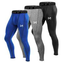MEETYOO Men's Compression Pants, Cool Dry Long Base Layer Leggings, Sport Fitness Underwear Tights