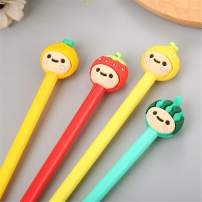 WIN-MARKET Gel Pens Set Fashion Cute Fruits Lollipop Candy Color Colorful Kawaii Lovely Cartoon Grass Sprouting Dumplings Gel Ball Pens Gel Ink Pen Office School Supply Stationery(6PCS)