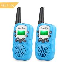 Camkiy Walkie Talkies Birthday Toy for Kids 2-Way Radio Long Range 3-5km, Best Gift for Boy Age 3-10 (Blue)