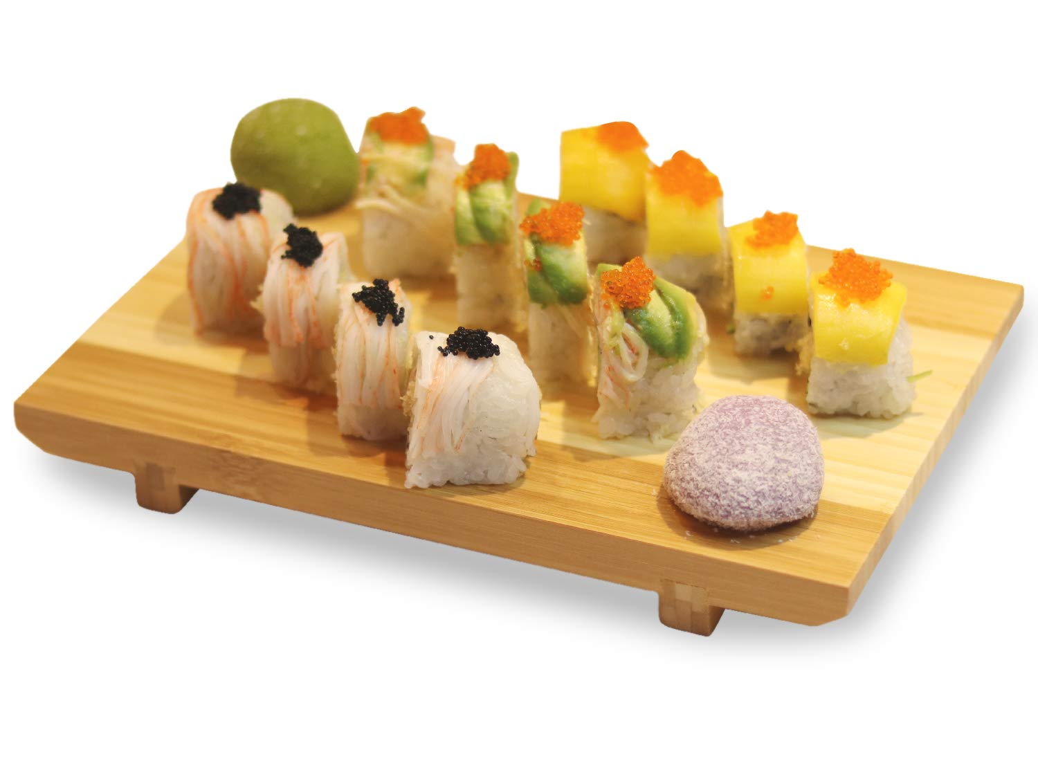 """Sushi Serving Plate Bamboo Board Cutting Tray Tableware Japanese Style10.6""""x7.1"""""""