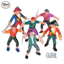 """CUZAIL Party Favors Pirate Figures 2.5"""" -Bulk Pack of 12 - Party Supplies - Gifts for Kids Carnival Prizes - Fun Party Decorations"""