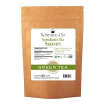 The Republic of Tea Serenity Supergreen Tea, 250 Tea Bags, Matcha And Tulsi Tea Blend