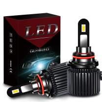 Globled 9005 LED Headlight Bulb High Beam 6000K White Lights H10 HB3 Led Light 70W 10000LM Super Bright Auto Headlamp, Pack of 2