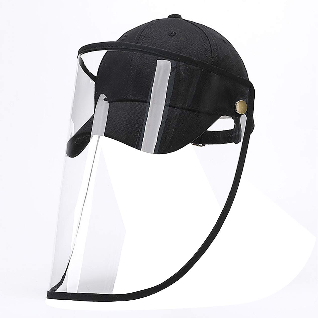 Safety Protective Face Shield Hat Full-face Protective Baseball Cap Anti Splash Safety Facial Hat, Face Eyes Shield Isolation Hat, Anti-Saliva Anti-Spitting Cover Outdoor Sun For Men and Women Black