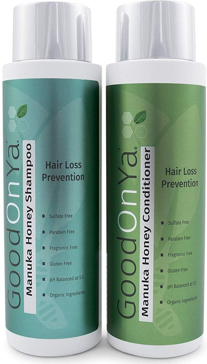 Thickening Biotin Shampoo and Conditioner for Hair Growth - Volumizing Shampoo and Conditioner with Manuka Honey - Natural and Organic Hair Loss Treatment - Safe for Color Treated Hair (16 oz)