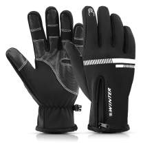 Lixada Winter Thermal Gloves Touch Screen Glove Water Resistant Windproof Warm for Hiking Driving Cycling Running Skiing Climbing