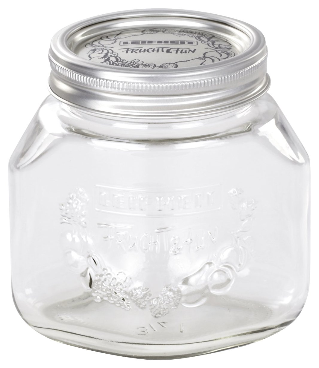 Leifheit 36203 3-Cup Preserve Jar, 3/4-Liter, Set of 6