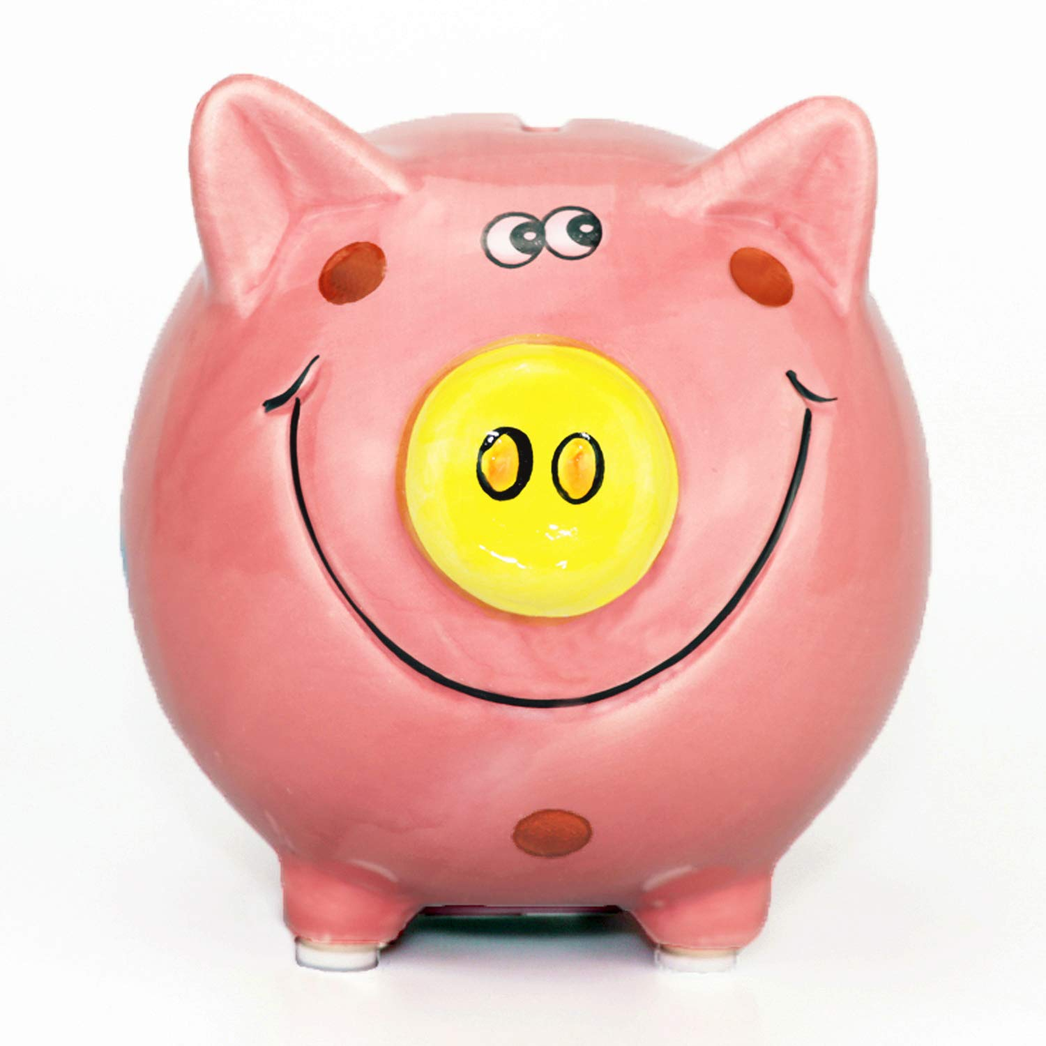Lovely Girls Piggy Bank, Cute Pig Baby Bank Coin Banks Money Banks for Kids Children Boys, Perfect Size for Birthday Gifts , Home Nursery Décor Keepsake, Favorite Unique Baby Gift Idea, Pink Bank