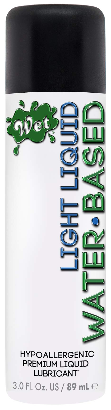 Wet Light Water Based Liquid Personal Lubricant, 3.0 Ounce