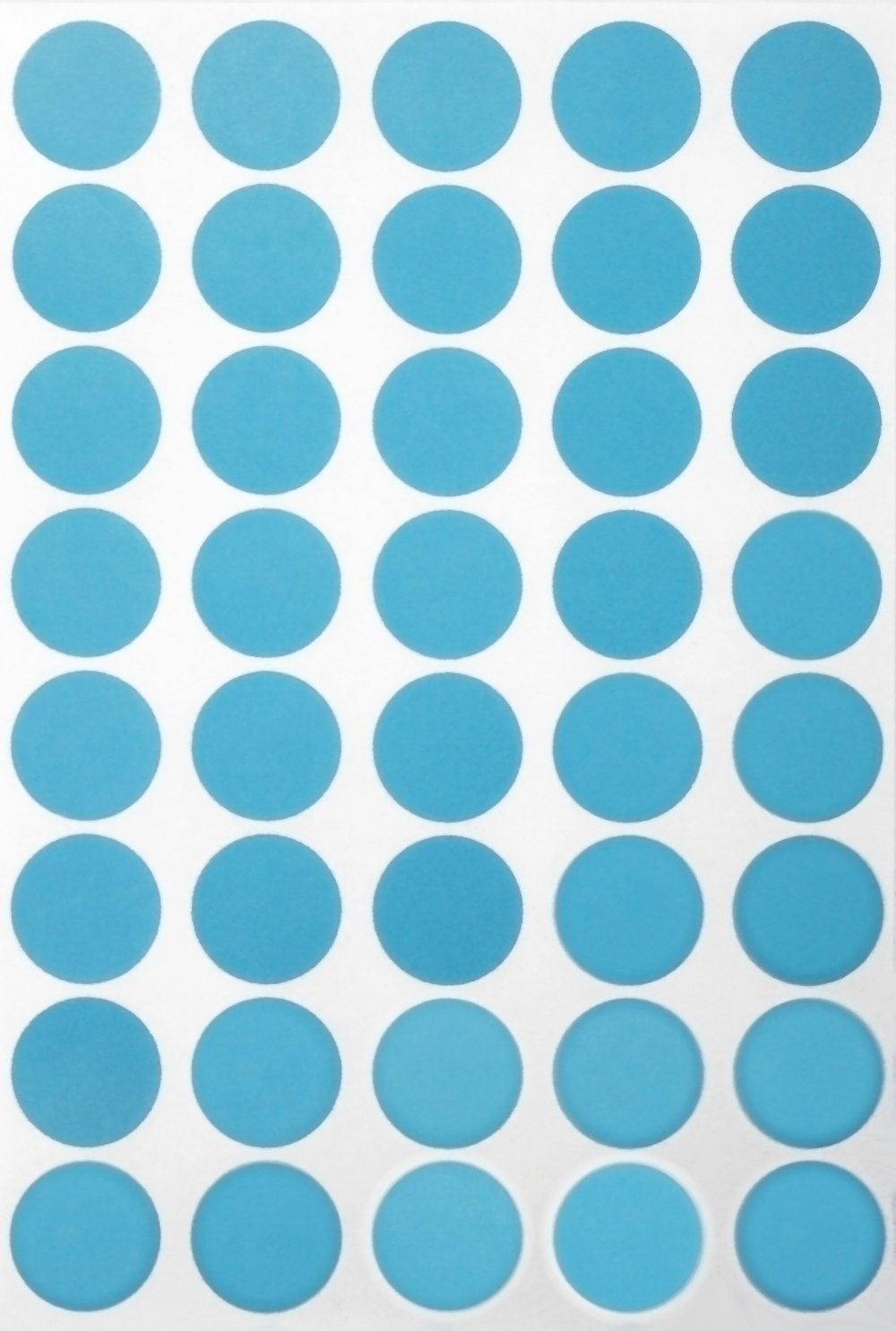 Royal Green Round Stickers Labels dots Sticker 19mm 3/4 inch - Light Blue - 280 Pack