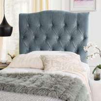 Safavieh Axel Wedgwood Blue Cotton Upholstered Tufted Headboard (Twin)