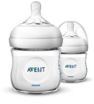 Philips Avent Natural Baby Bottle, Clear, 4oz, 2pk, SCF010/27