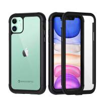 Seacosmo Hybrid Protection iPhone 11 Case(2019), [Cushion Shock] [Smooth Impact] Full-Body Clear Case Phone Case for iPhone 11 6.1 inches (with Built-in Screen Protector)